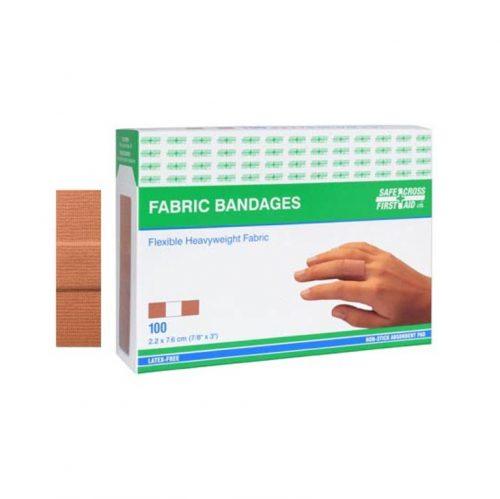 Boite de 100 pansements en tissu   Safe Cross