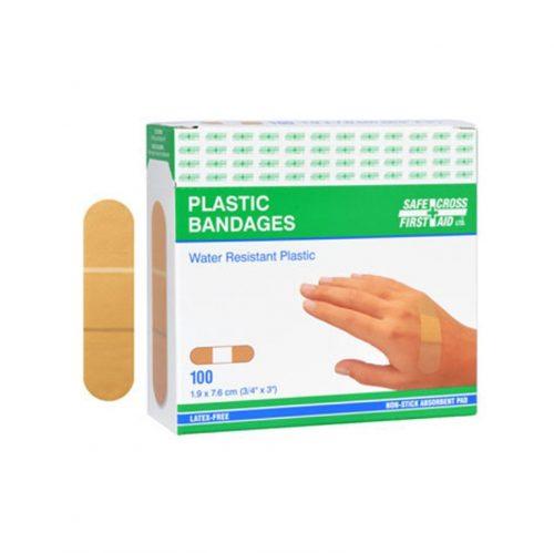 Boite de 100 pansements en plastique | Safe Cross