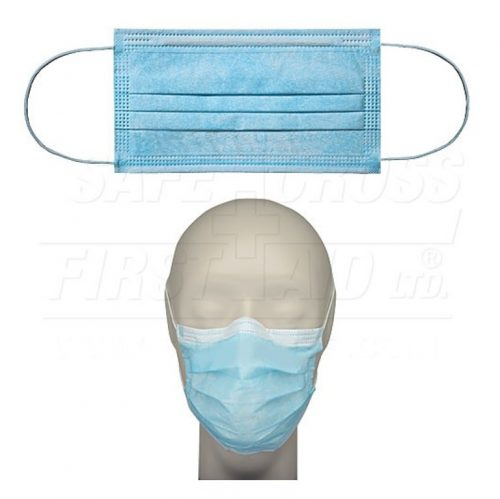 Masque facial chirurgical avec attaches auriculaires