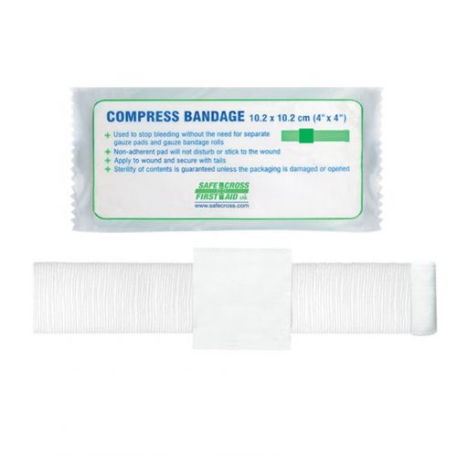 Bandage de compression stérile 4 po | Safe Cross