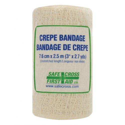 Bandage en crêpe en rouleau 3 po   Safe Cross