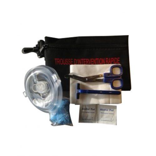 Ensemble d'intervention rapide pour défibrillateur