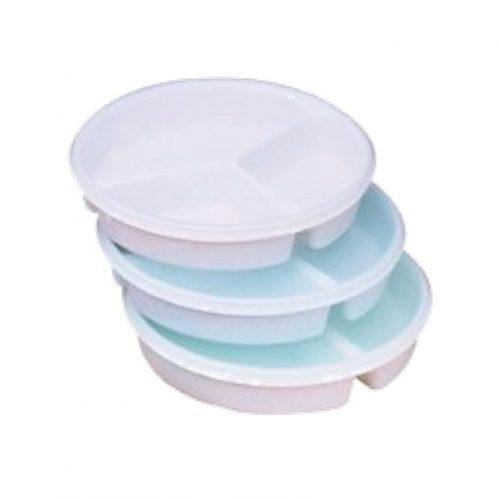 Assiette à 3 sections avec couvercle