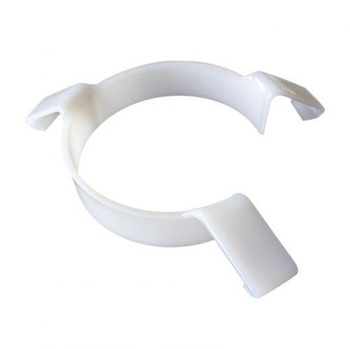 Arrête-nourriture en plastique Blanc