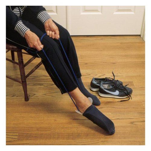 Enfile bas flexible avec cordon