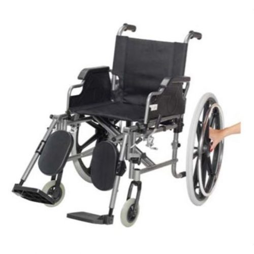 Fauteuil roulant léger à appuie-bras et appuie-pieds escamotable