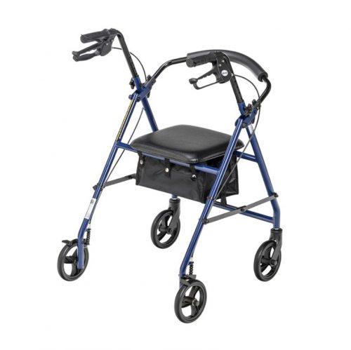 Déambulateur Rollator roues de 6 po Bleu | Drive